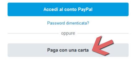 Caprisandals pagamento con Carte